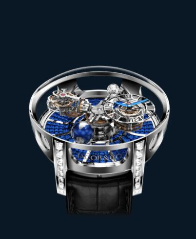 Jacob and Co Astronomia Replica Watch ASTRONOMIA TOURBILLON BAGUETTE BLUE SAPPHIRES AT800.30.BD.BB.A