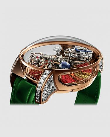 Replica Jacob and Co Astronomia Tourbillon Multi-color Sapphires Watch AT800.40.BD.UB.B