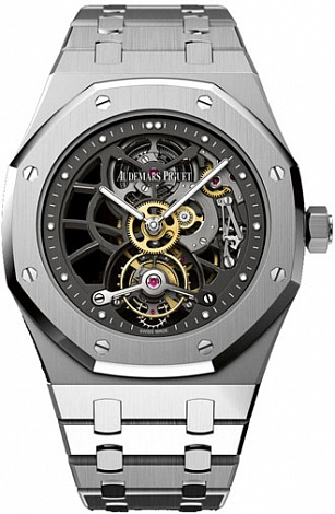 Replica Audemars Piguet Royal Oak Openworked Extra-Thin Tourbillon 26511PT.OO.1220PT.01 watch