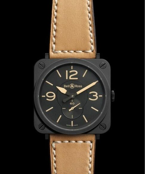 Bell & Ross Replica Watch BR S Heritage AVIATION BRS-HERITAGE/SCA Matte Black Ceramic