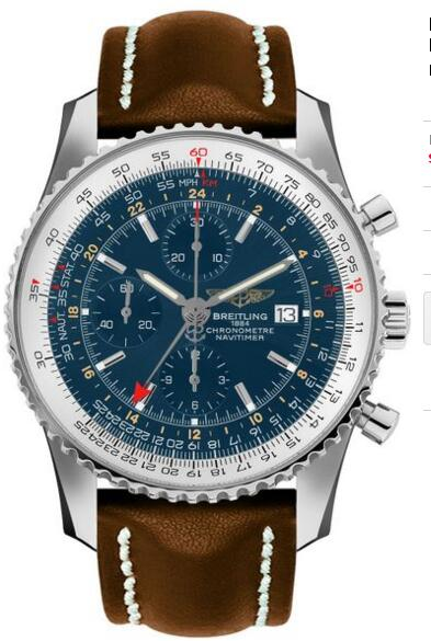 Fake Breitling Navitime A2432212-C651-443X Blue Dial Automatic watch
