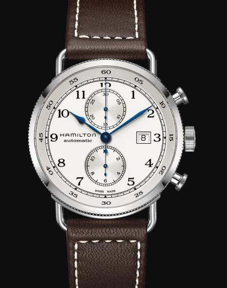 Hamilton Khaki Navy Review Chronometer Watch Pioneer Auto Chrono Silver Dial Replica H77706553