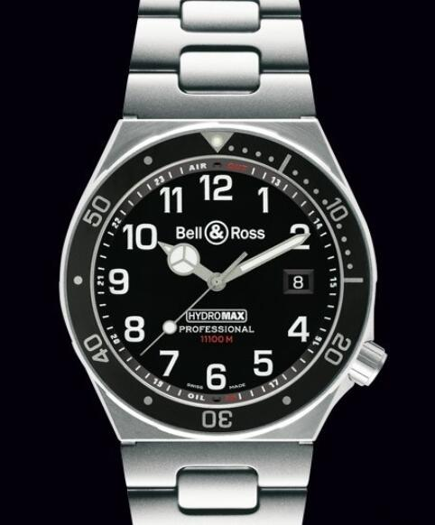 Replica bell ross watches for sale Bell & Ross Hydromax 11000M PROFESSIONAL HYDROMAX-S-B Steel - Black Dial