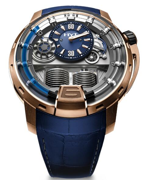 Replica HYT h1-gold-blue 148-PG-32-BF-AA watch