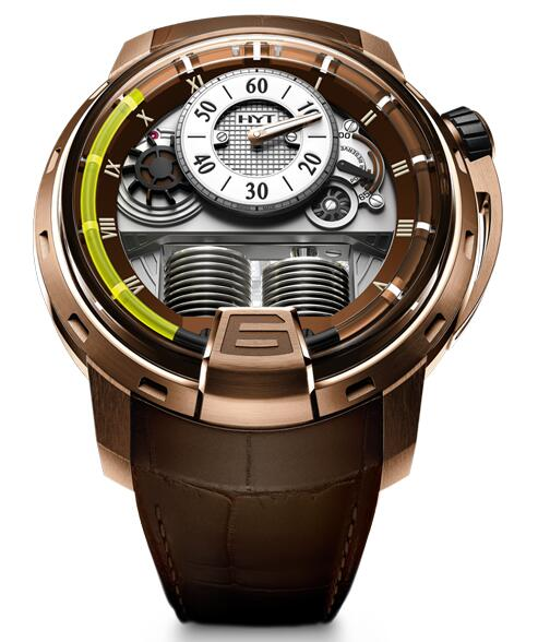 Replica HYT h1-pink-gold-face-lift 148-PG-RO-GF-CR watch