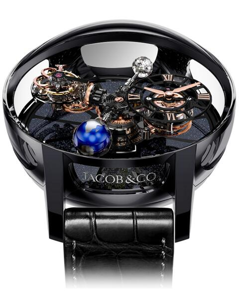 Jacob & Co AT100.40.95.KN.SD.B. Astronomia Tourbillon Black Ceramic Rose Gold Replica watch