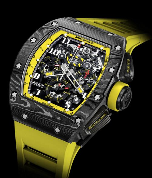 Richard Mille watch Replica RM 011 Flyback Chronograph Yellow Storm