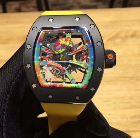 Richard Mille RM 68-01 Kongo Tourbillon yellow Rubber watches prices