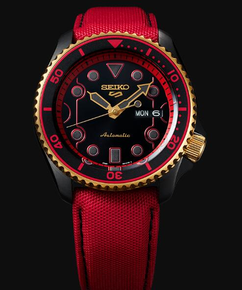 Seiko 5 Sports Replica Watch STREET FIGHTER V Limited Edition KEN model SRPF20K1