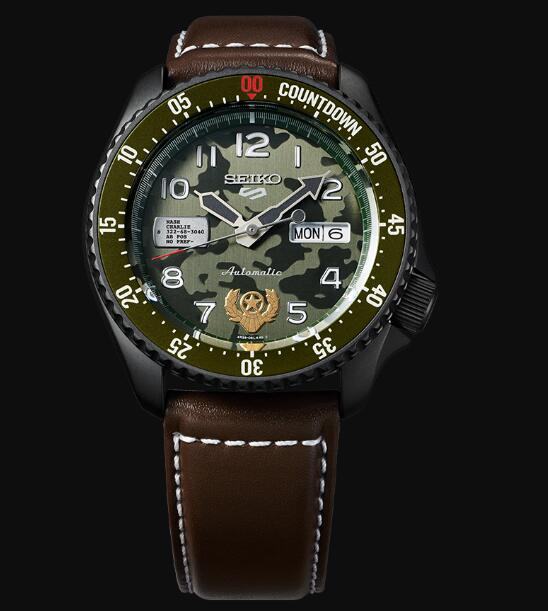 Seiko 5 Sports Replica Watch STREET FIGHTER V Limited Edition GUILE model SRPF21K1