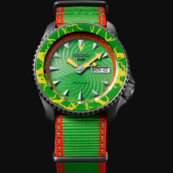 Seiko 5 Sports Replica Watch STREET FIGHTER V Limited Edition BLANKA model SRPF23K1