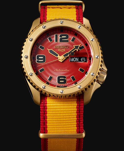 Seiko 5 Sports Replica Watch STREET FIGHTER V Limited Edition ZANGIEF model SRPF24K1