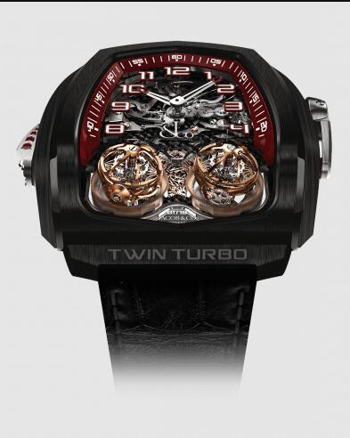 Jacob & Co Replica Watch Twin Turbo Tourbillon Repeater Black DLC TT100.21.NS.NK.C