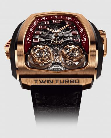 Jacob & Co Replica Watch Twin Turbo Tourbillon Repeater Rose Gold TT100.40.NS.NK.C
